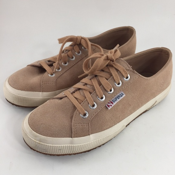 Superga Suede Low Top Sneakers Rose Women's 8